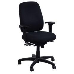 Office Master PT78-Black-Adjustable Arms-01