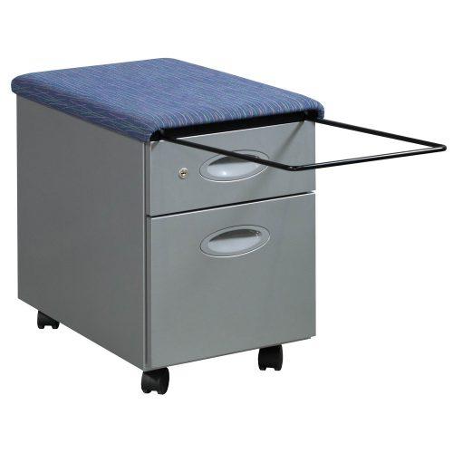 Steelcase-BF Pedestal-Blue Pattern Top-02