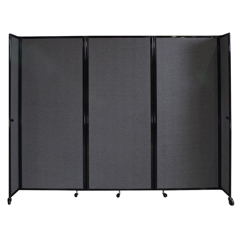 Versare room divider versare mobile accordion room for Industrial room dividers
