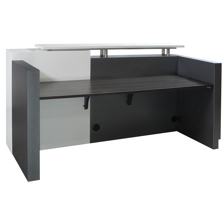 Gray Reception Desk Gray Reception Desk Grey Modern