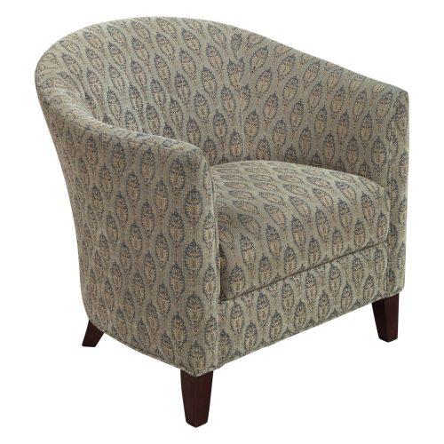 Bernhardt-Brown pattern club chair-01
