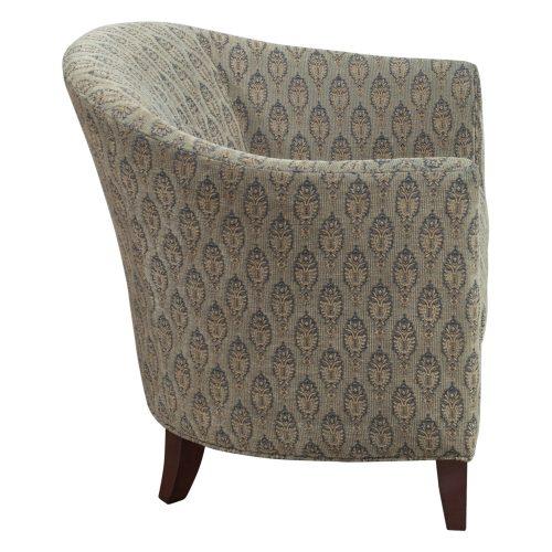 Bernhardt-Brown pattern club chair-02