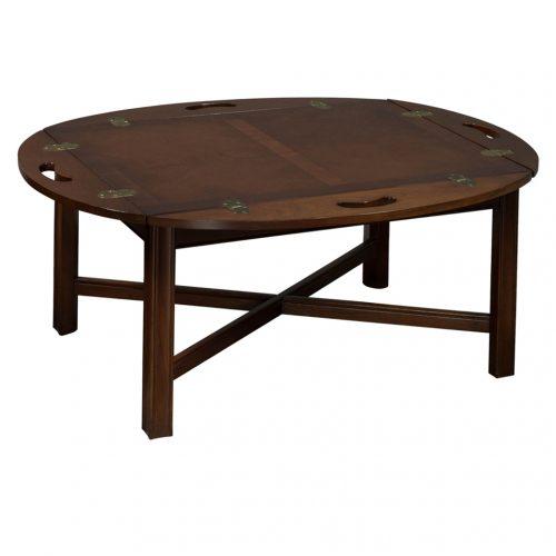 Used Veneer Coffee Table W Handles Walnut