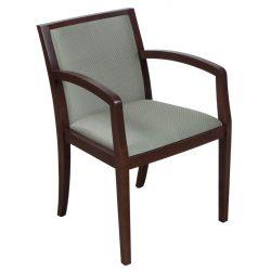 Green Checker-Wood Side Chair-Walnut-01