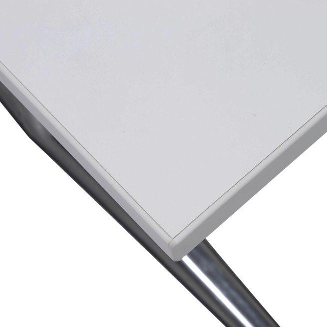steelcase akiracoalesse used 24×48 nesting table, white