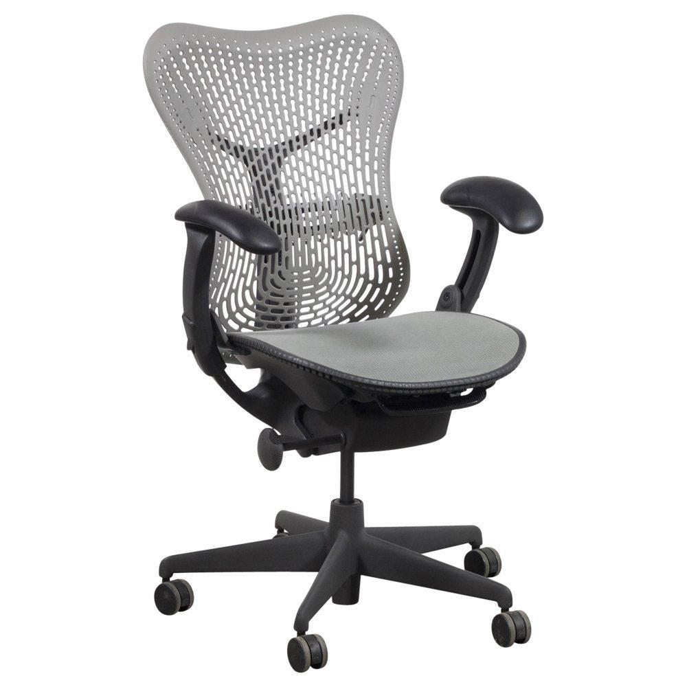 herman miller mirra used mesh task chair gray shadow. Black Bedroom Furniture Sets. Home Design Ideas