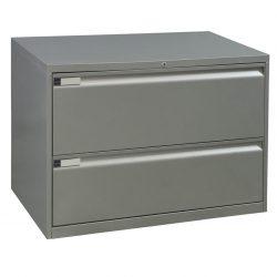 Teknion-36inch Storage-Silver-01