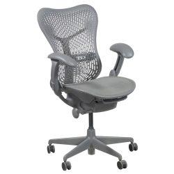herman miller mirra used mesh seat task chair gray shadow