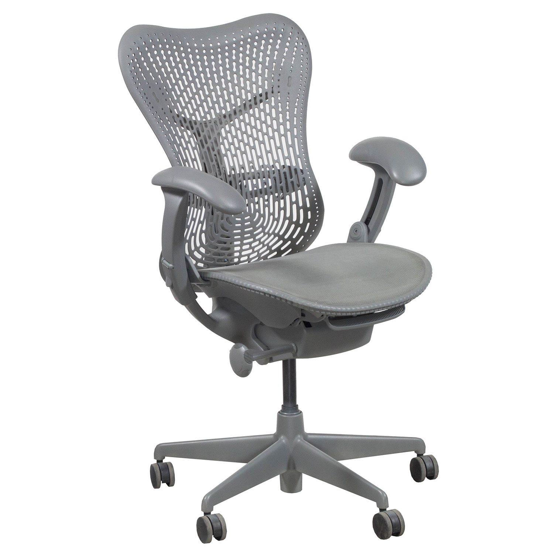 herman miller mirra used task chair gray shadow. Black Bedroom Furniture Sets. Home Design Ideas