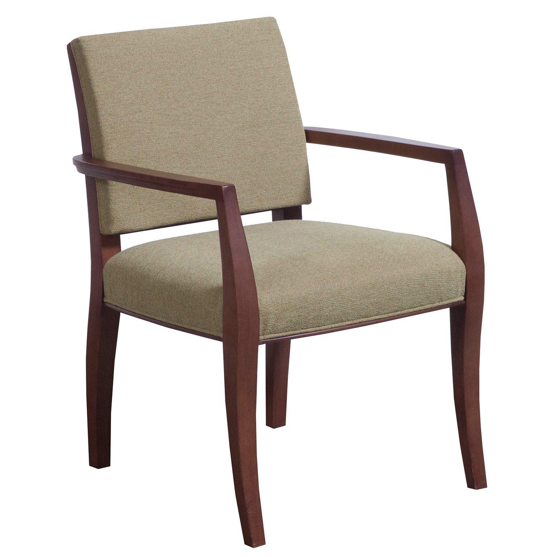 Bernhardt Used Dark Cherry Wood Side Chair Green