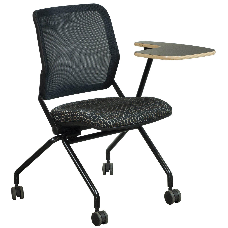 KI Torsion Air Used Nesting Left Tablet Chair Black