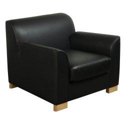 Steelcase Bryaton-Black PU Leather-Lounge-01