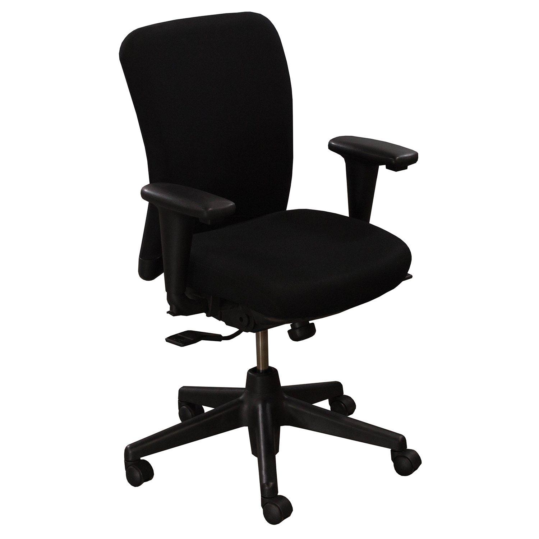 Haworth look used task chair black national office interiors and liquidators - Hayworth office furniture ...