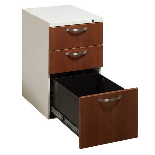 Herman Miller Box Box File Cherry Pedestal - Drawer Open