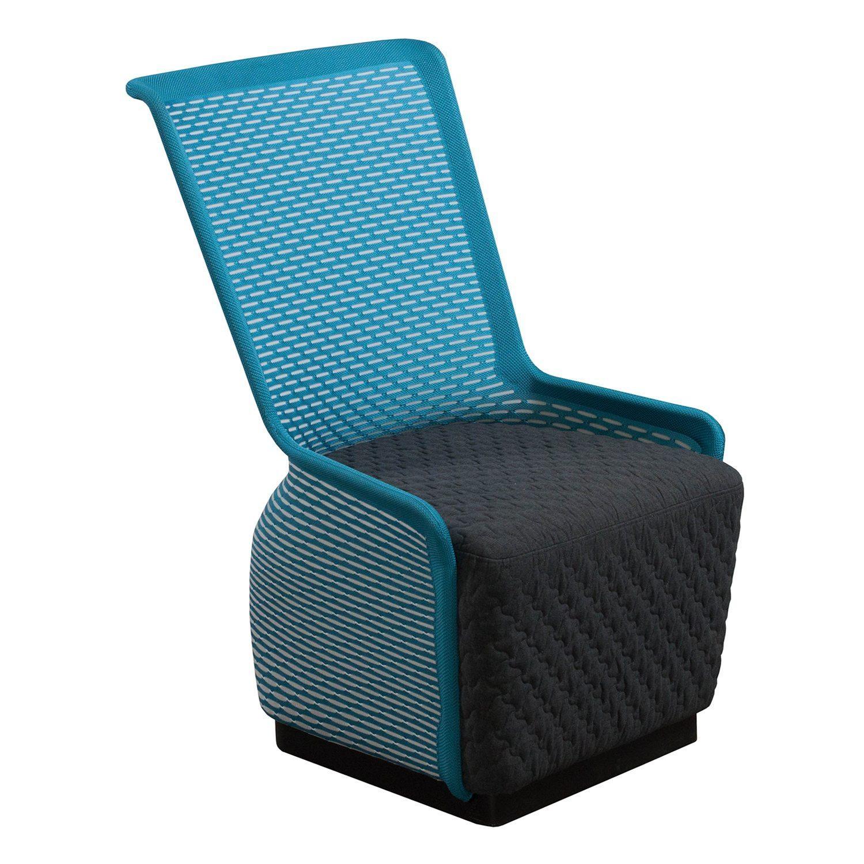 Tide Pool by goSIT Modern Mesh Lounge Chair Blue & Gray