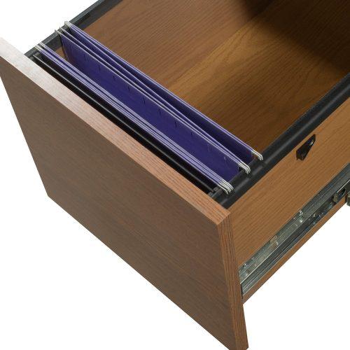Hon 36x65 Oak Desk - Drawer