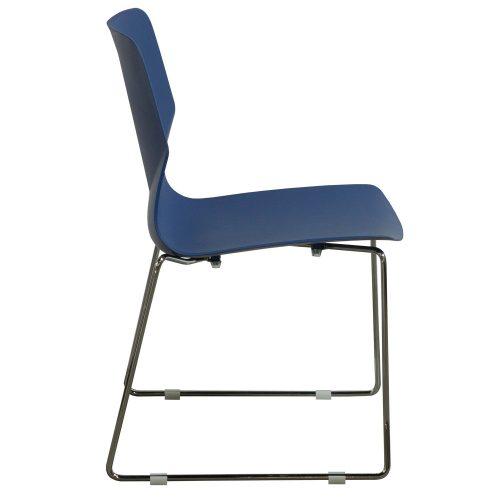goSIT Peak Stack Chair in Blue - Side