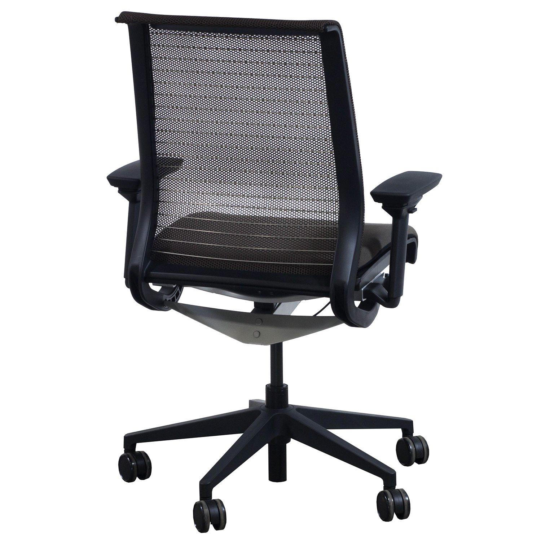 steelcase think used mesh back task chair brown. Black Bedroom Furniture Sets. Home Design Ideas