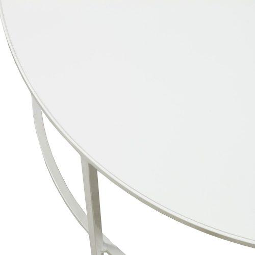 30 Inch White Modern Coffee Table - Edge