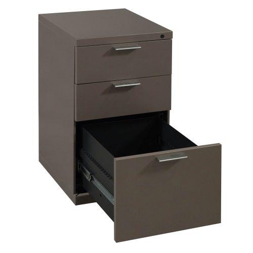 Herman Miller Box Box File Pedestal in Bronzite - Drawer Open