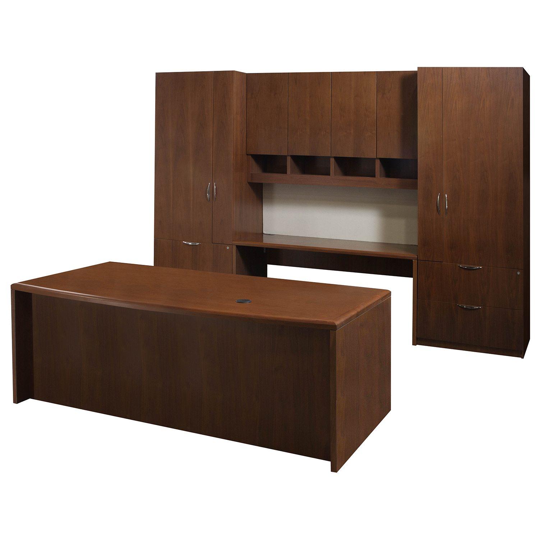 Steelcase Used Veneer Executive Office Set Walnut