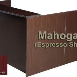 0901 New Mahogany Laminate L Shape Reception Desk