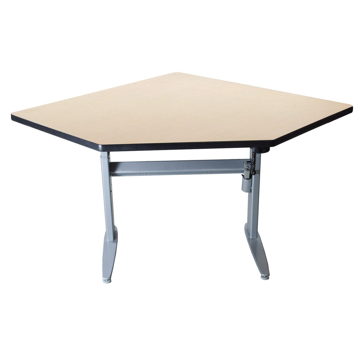 Conset Used Electric Sit Stand Corner Desk Maple