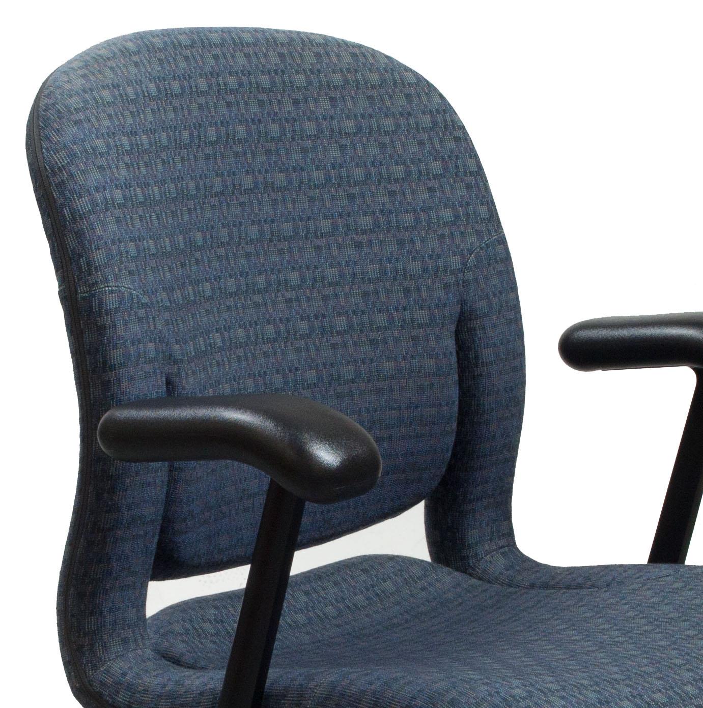 Herman Miller Equa Used Sled Base Side Chair Blue Pattern