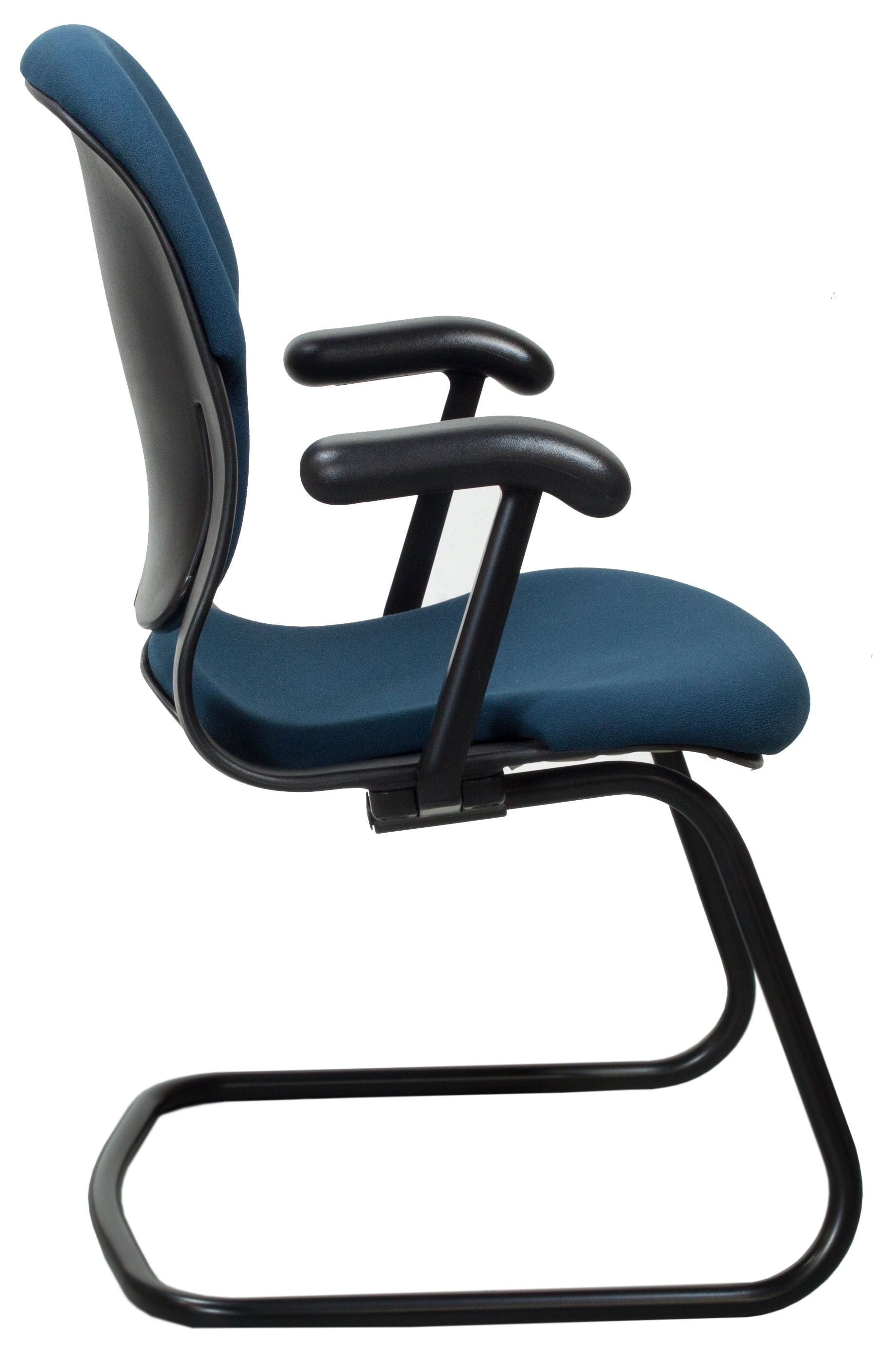 Herman Miller Equa Size B Used Sled Base Side Chair Blue