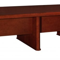 Associate Series Wood 10 x 5 Foot Conference Table Brown Cherry