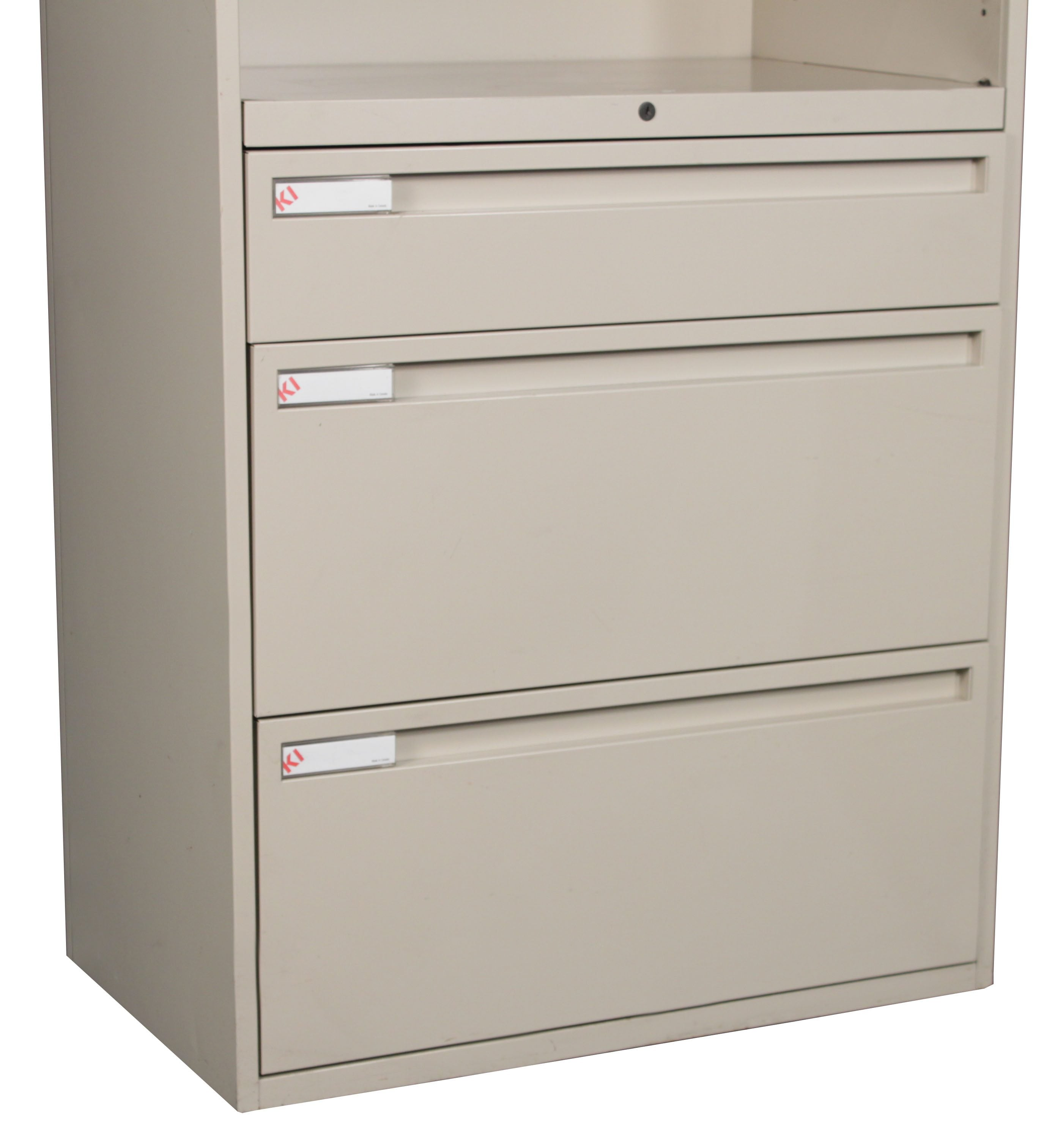 KI 700 Series Putty Used Bookcase Lateral File 30 Inch