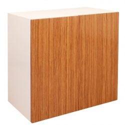 Louis 32 inch Veneer Storage Cabinet White and Zebra