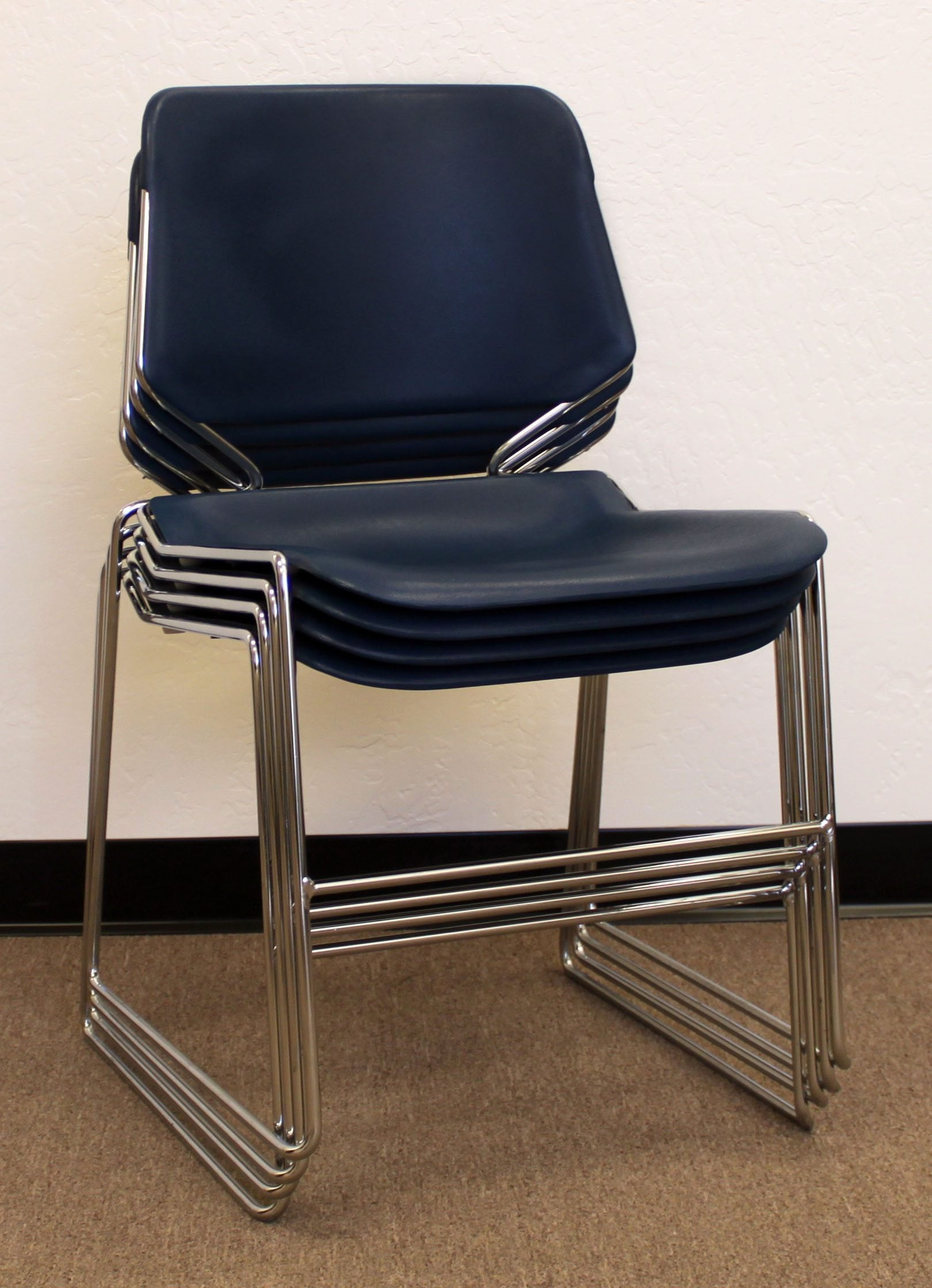 Krueger Matrix Used Stack Chair Blue National Office
