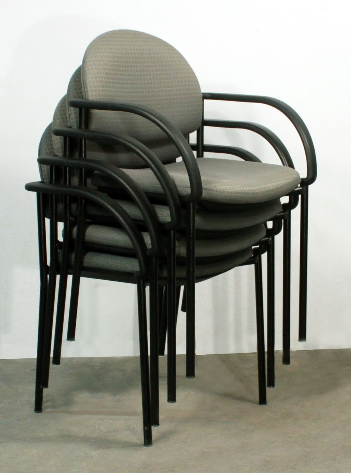 Harter Used Stack Chair Olive Print National Office