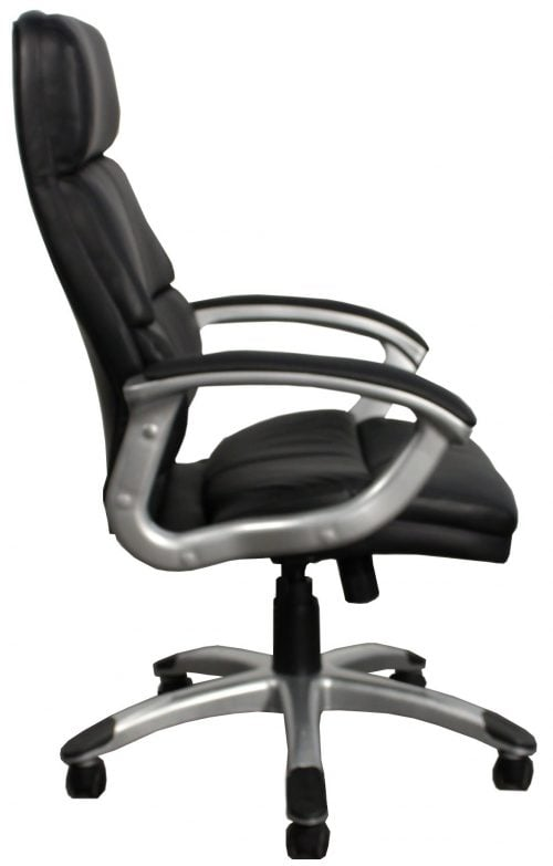 Inside Job New Leather Executive Chair Black Side View