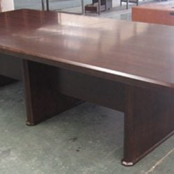 Associate Office Desk Set Series Wood Conference Table Walnut Color