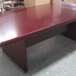 Associate Series Wood 14 x 5 Foot Conference Table Mahogany Color