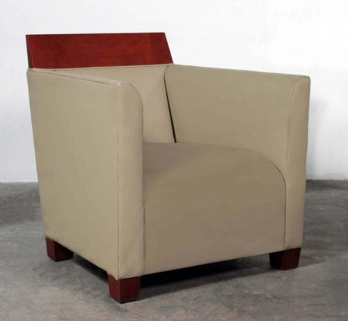 Hbf Dateline John Hutton Used Leather Lounge Chair Tan