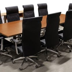 Modern New Veneer Teak Conference Table