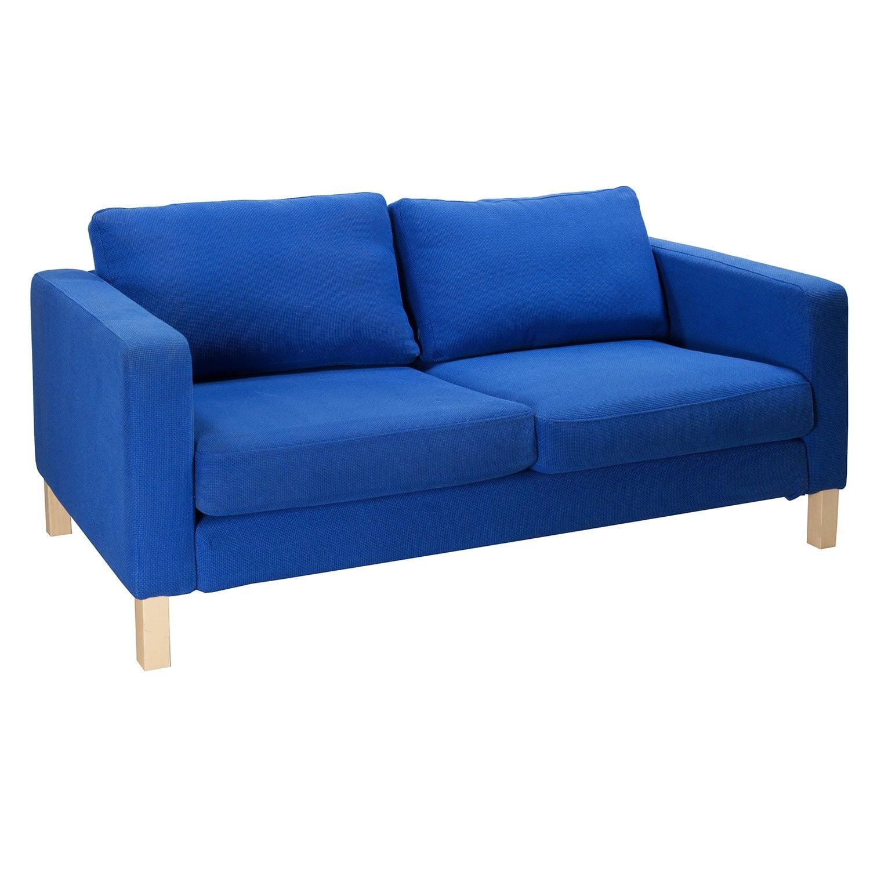 Ikea Karlstad Legs: Ikea Karlstad Used Love Seat, Blue