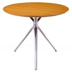 Louis 36 inch Round Zebra Veneer Top Meeting Table
