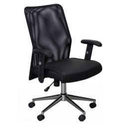 Radar by goSIT Mesh Executive Chair Black Front View