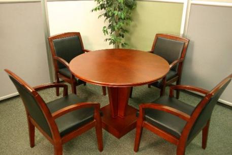 Santa Anita New Inch Cherry Wood Veneer Round Conference Table - 42 inch round conference table