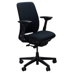 Steelcase Amia Used Task Chair Black Front View
