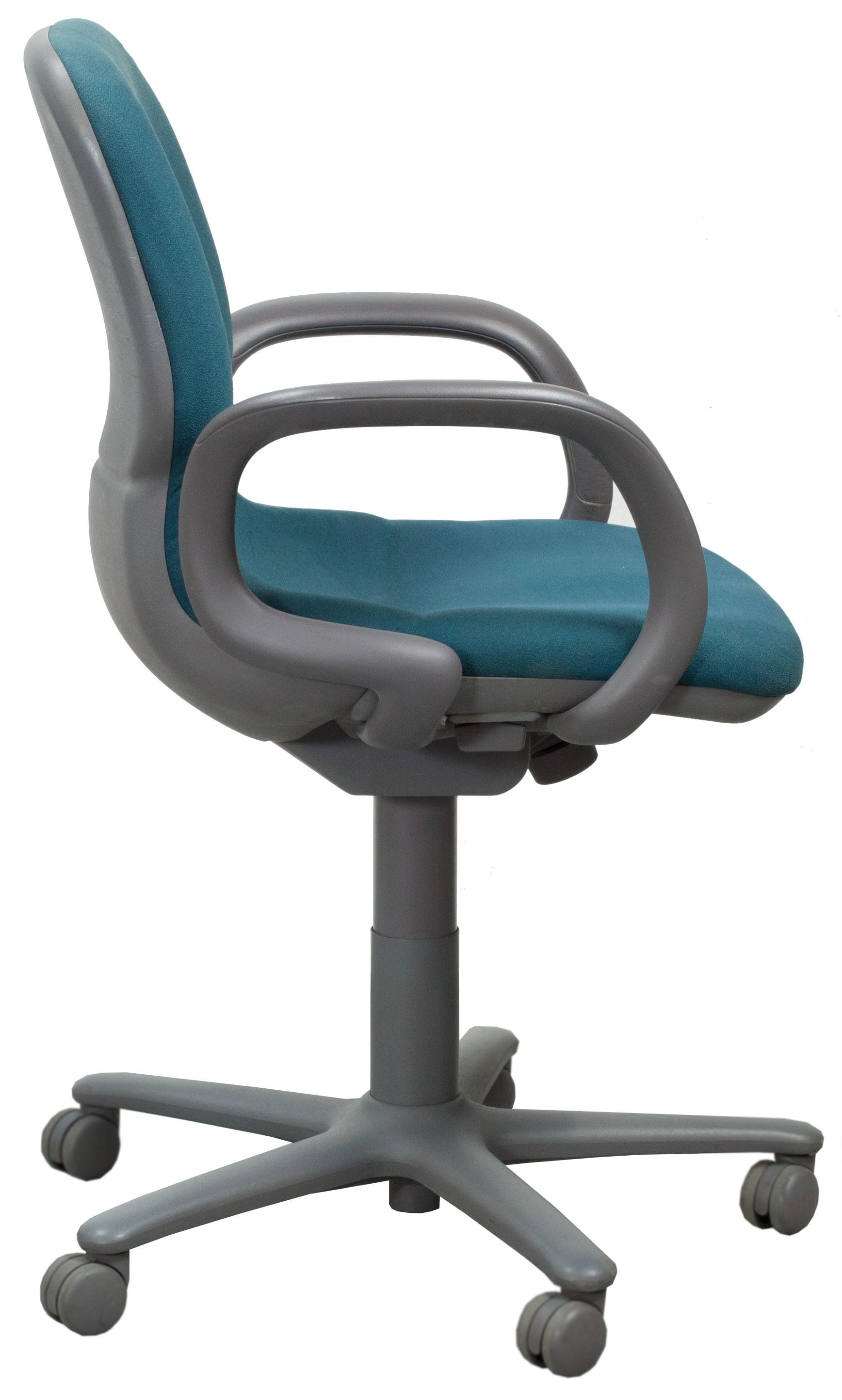 Steelcase Sensor Used Mid Back Task Chair, Teal - National ...