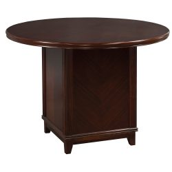 Arlington Round Meeting Table Walnut Color