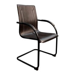 Inside Job Leather New Side Chair Black