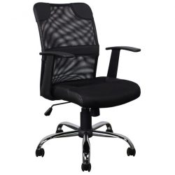 Inside Job New Mesh Executive Chair Black Front View