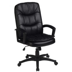 Inside Job New Leather Executive Chair Black Front View