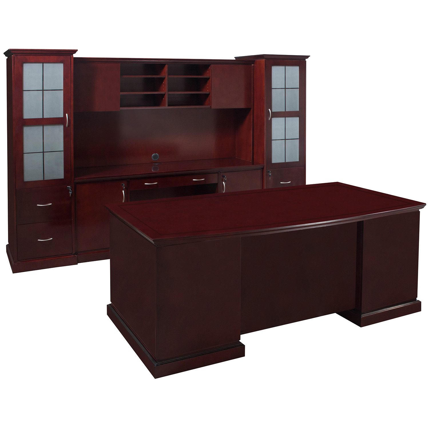Cambridge Executive Office Set Mahogany National Office